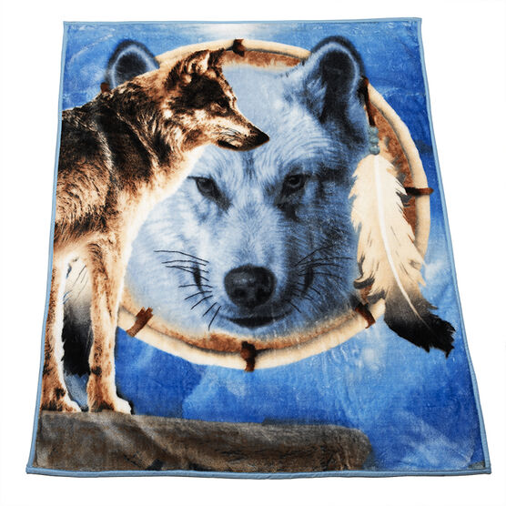 Fun Fur Throw - Dream Wolf
