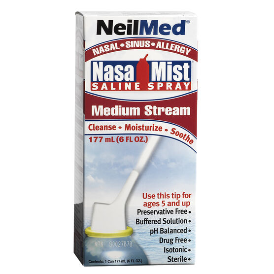 Neilmed NasaMist Saline Spray - Medium Stream - 177ml