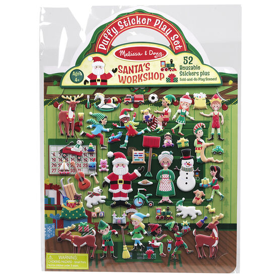 Melissa & Doug - Puffy Sticker Play Set - Santa's Workshop