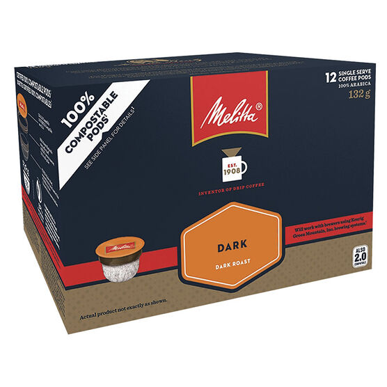 Melitta Single Serve Coffee - Dark Roast - 12 Servings