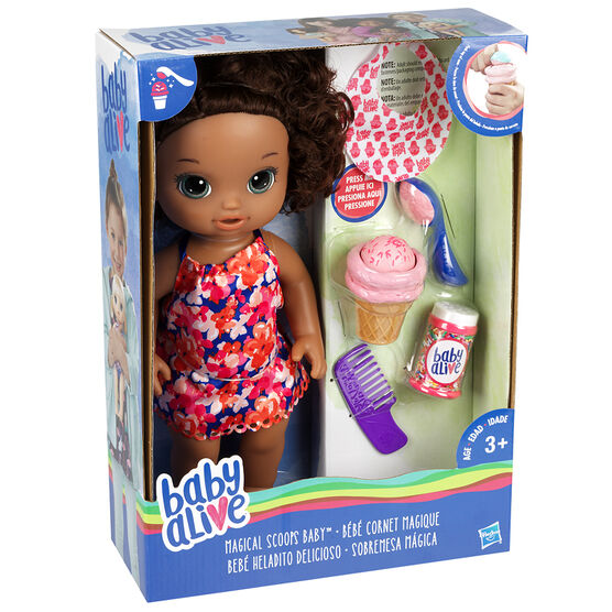 Baby Alive Magical Scoops Baby - Brunette