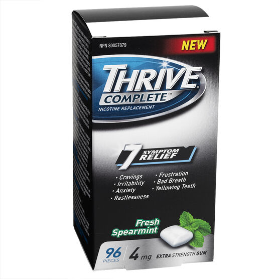 Thrive Complete 4mg Nicotine Replacement Gum - Spearmint - 96's