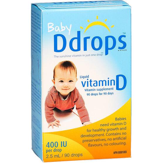 Ddrops Baby Liquid Vitamin D 400IU - 90 Drops