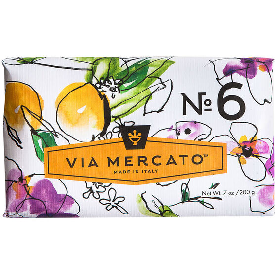 Via Mercato Soap - Fig Orange Blossom & Cedarwood - 200g