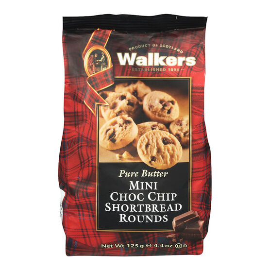 Walkers Mini Chocolate Chip Shortbread Bag - 125g