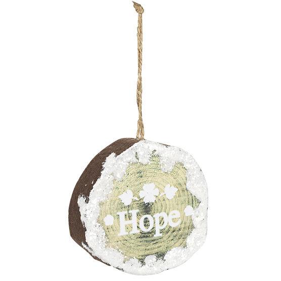 Wild Berries Flat Ball Ornament - Hope Hope - 8.5cm