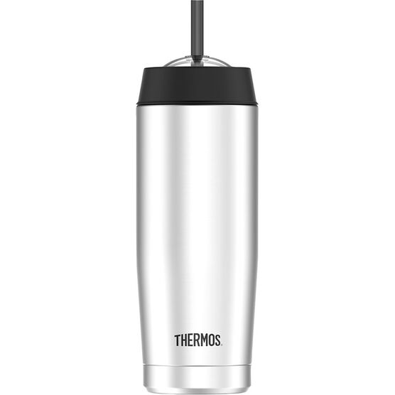 Thermos Vacuum Insulated Cold Cup with Straw - 470 mL