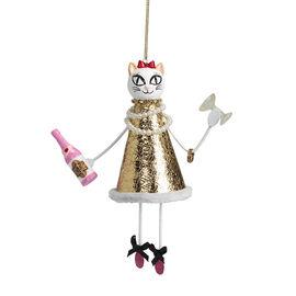 Betsey Johnson Cat Ornament - White