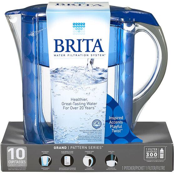 Brita Grand Pitcher - Blue - 10 cup