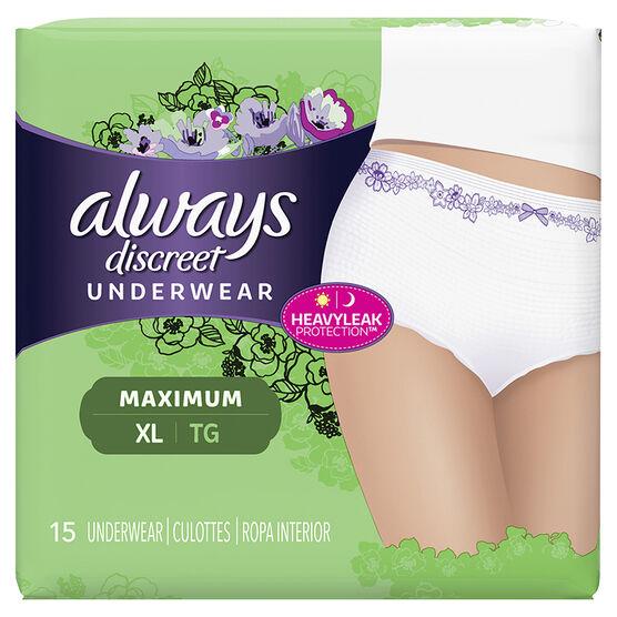 Always Discreet Underwear Maximum - Extra Large - 15's