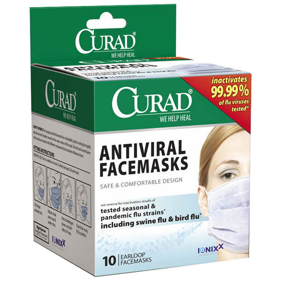 Curad Anti Viral Face Masks - 10's