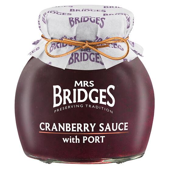 Mrs. Bridges Cranberry Sauce With Port - 250g