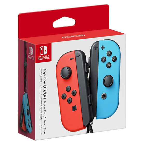 Nintendo Switch Joy-Con Controllers Neon Red Blue