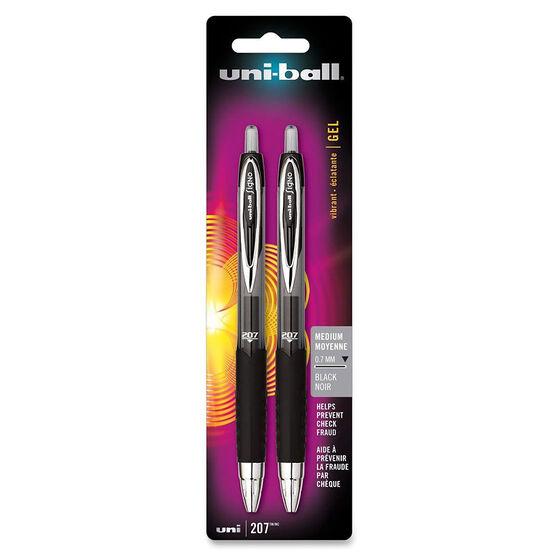 Uniball Medium Vibrant Gel Pen - Black - 2 pack