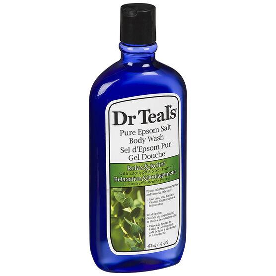 Dr Teal's Pure Epsom Salt Body Wash - Eucalyptus & Spearmint - 473ml