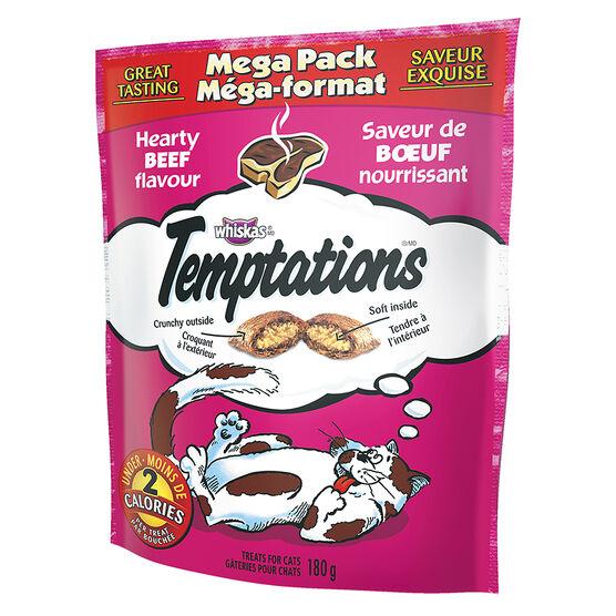 Whiskas Temptations Mega Pack - Hearty Beef - 180g