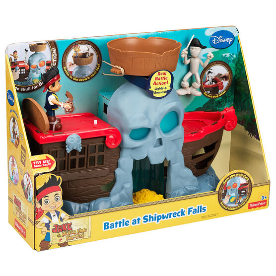 Jake and the Never Land Pirates Battle at Shipwreck Falls Playset - BDH89