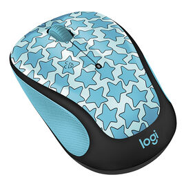Logitech M325c Doodle Collection Wireless Mouse -Twinkle Teal - 910-005035