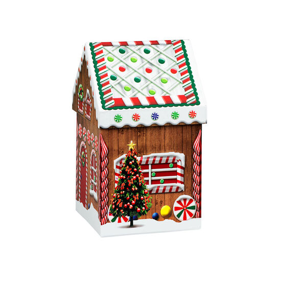 Gingerbread House Box - 3.75 x 3.75 x 7in