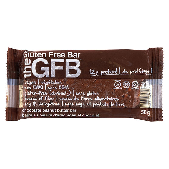 the GFB Bar - Chocolate Peanut Butter - 58g