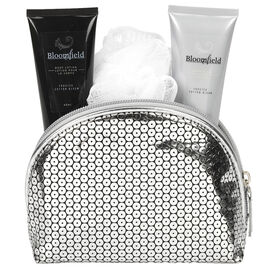 Bloomfield Bath Gift Set with Cosmetic Bag - Frosted Cotton Bloom - 4 piece