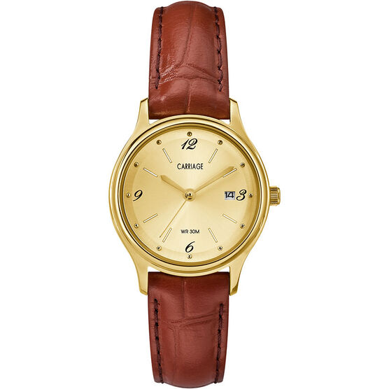 Timex Carriage Mid Size Leather Watch - CC3C780009J