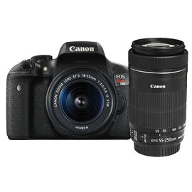Canon T6i with 18-55mm and 55-250mm IS STM Lens