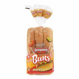 Dempster's Hotdog Buns - 12's