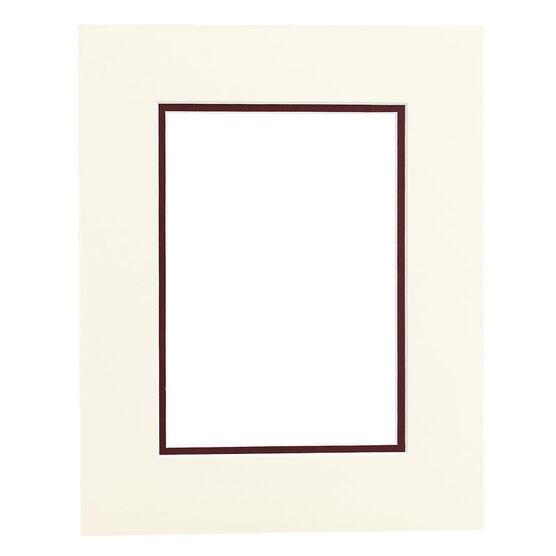 Tempo 8x10 Mat Frame - Ivory/Maroon