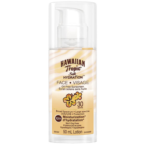 Hawaiian Tropic Silk Hydration Face Oil Free Sunscreen - SPF30 - 50ml