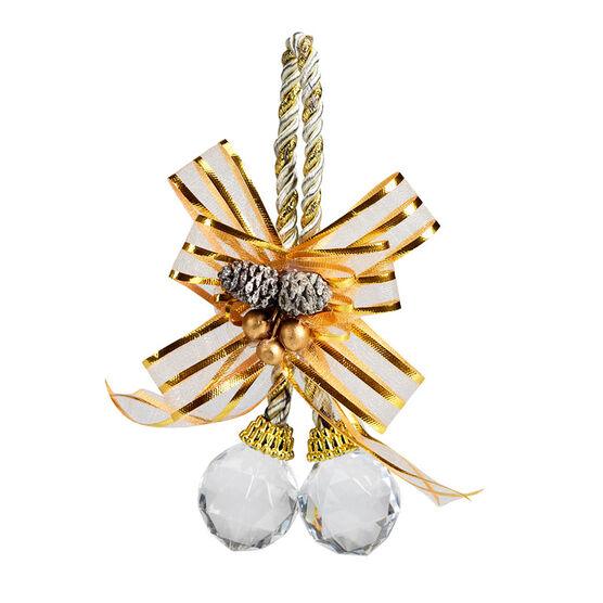 Rose Gold Double Diamond Ornament - 12cm