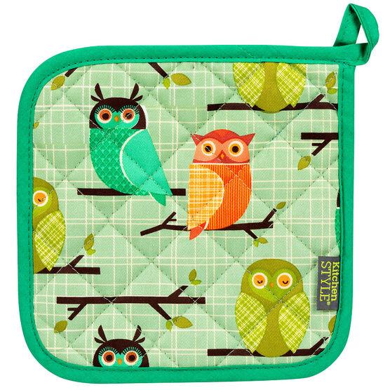 Kitchen Style Potholder - Owls