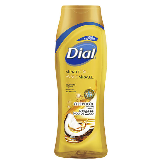 Dial Miracle Oil Body Wash - Coconut Oil Infused - 473ml