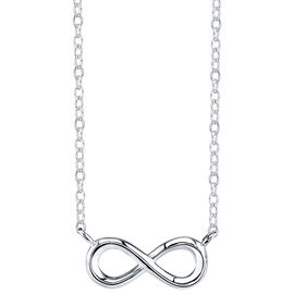 UNWRITTEN Sterling Silver Infinity Stationary Necklace
