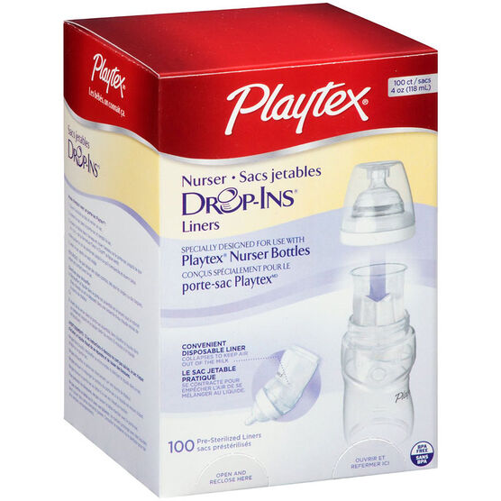 Playtex Nurser Drop-Ins Liners - 118mL - 100's