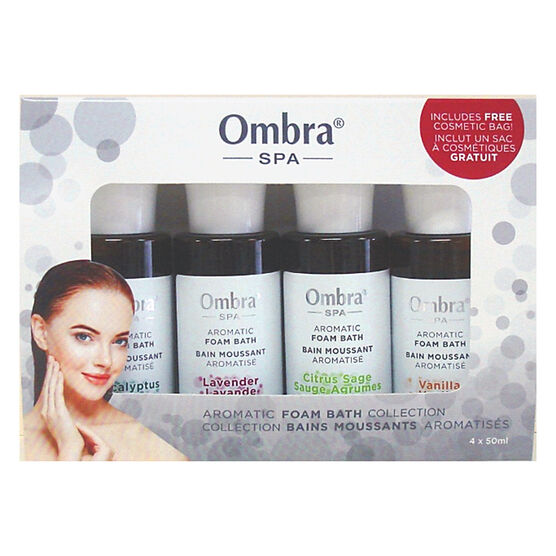 Ombra Spa Aromatic Foam Bath Collection - 4 x 50ml