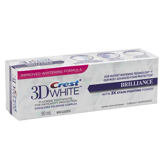 Crest 3D White Toothpaste Brilliance - Vibrant Peppermint - 90ml