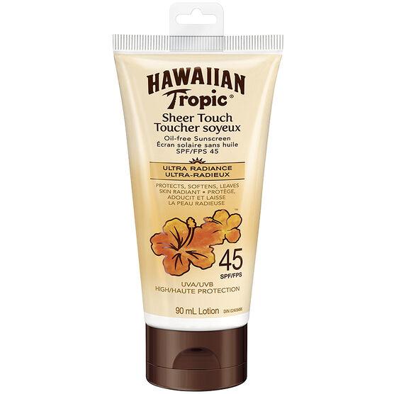 Hawaiian Tropic Sheer Touch Lotion Sunscreen - SPF 45 - 90ml