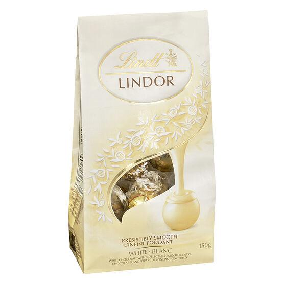 Lindt Lindor Bag - White Chocolate Truffles - 150g