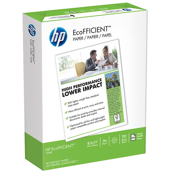 HP EcoFFICIENT 16# Paper - 92 Bright - 10 pack