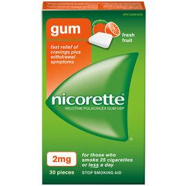 Nicorette Gum - Fresh Fruit - 2mg - 30's