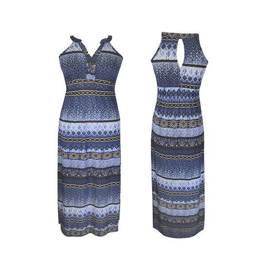 Lava Printed Maxi Dress - Navy