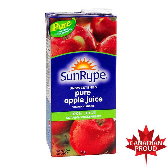 Sun-Rype Unsweetened Pure Apple Juice - 1L