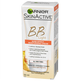 Garnier SkinActive BB Light Moisturizing Cream - Nude Effect - 50ml