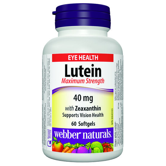 Webber Naturals Lutein Maximum Strength with Zeaxanthin - 40mg - 60's