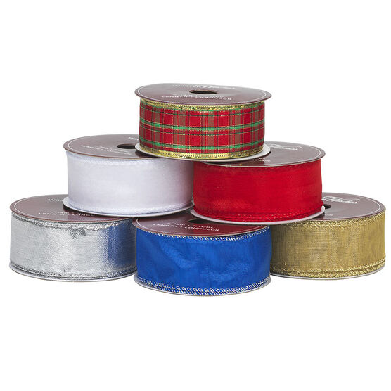 Winter Wishes Wire Edge Ribbon - Assorted - 1.5in x 10yds