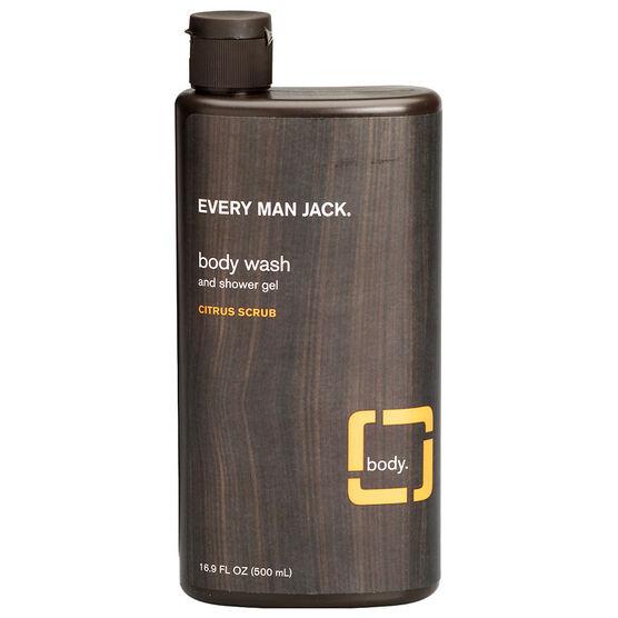 Every Man Jack Body Wash & Shower Gel - Citrus Scrub - 500ml
