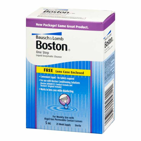Bausch & Lomb Boston One Step Liquid Enzymatic Cleaner - 5ml