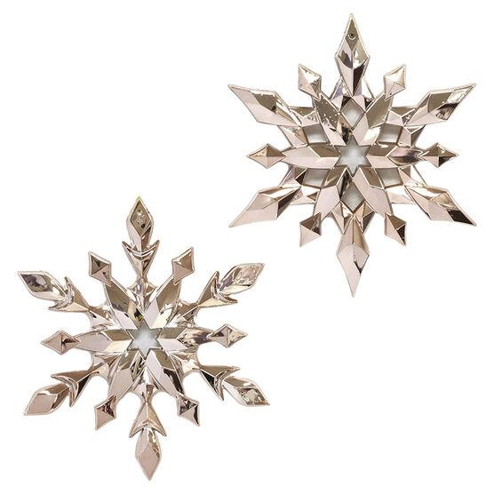 Modern Twist Snowflake Ornament - Rose Gold - 5in