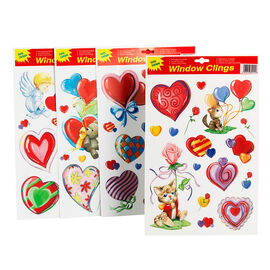 Valentine's Window Clings - Assorted